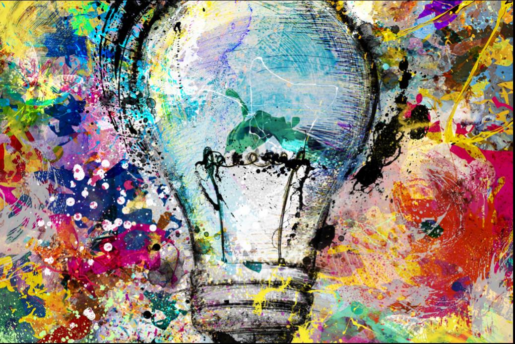 artful lightbulb